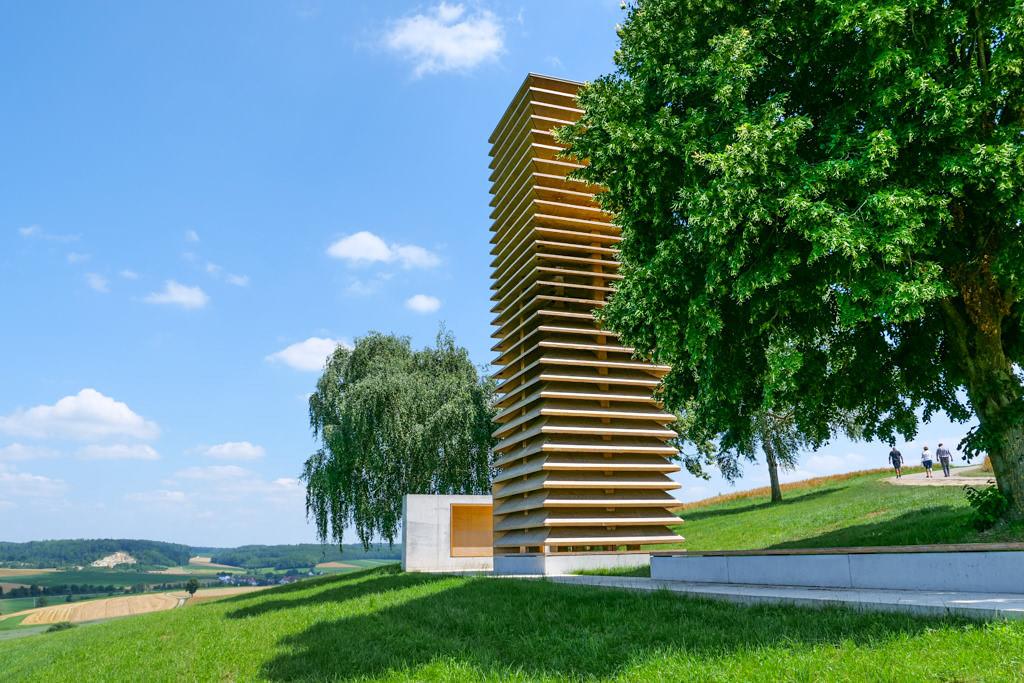 Wegkapelle Kesselostheim der Staab Architekten - Sehenswürdigkeit 7 Kapellen der Denzel-Stiftung im Dillinger Land, Bayern