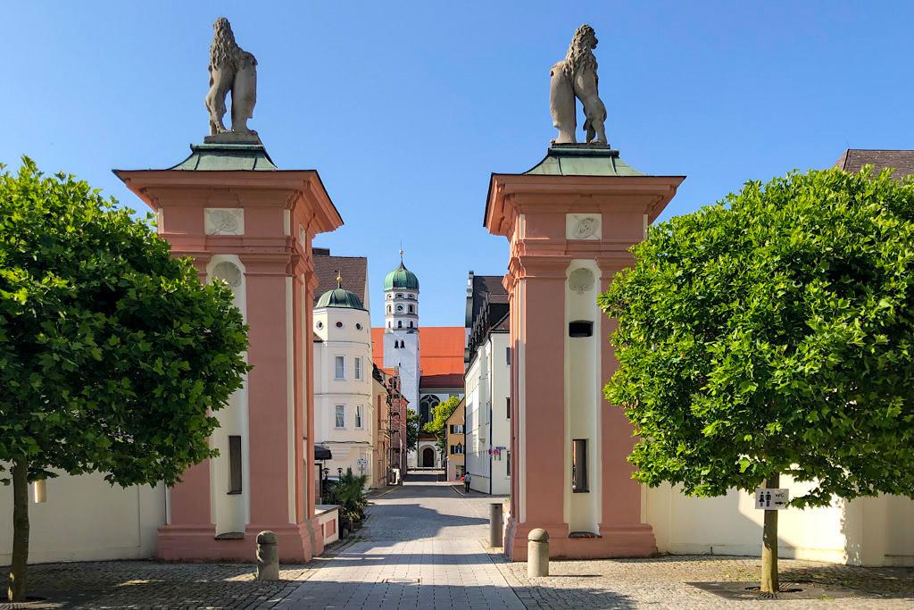 Dillingen an der Donau - Ausblick auf die schöne Altstadt - Bayern