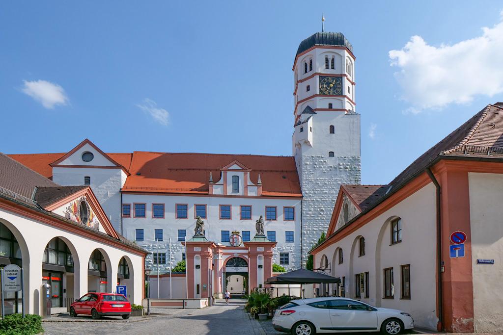 Dillingen an der Donau - Blick auf Schloss Dillingen - Bayern
