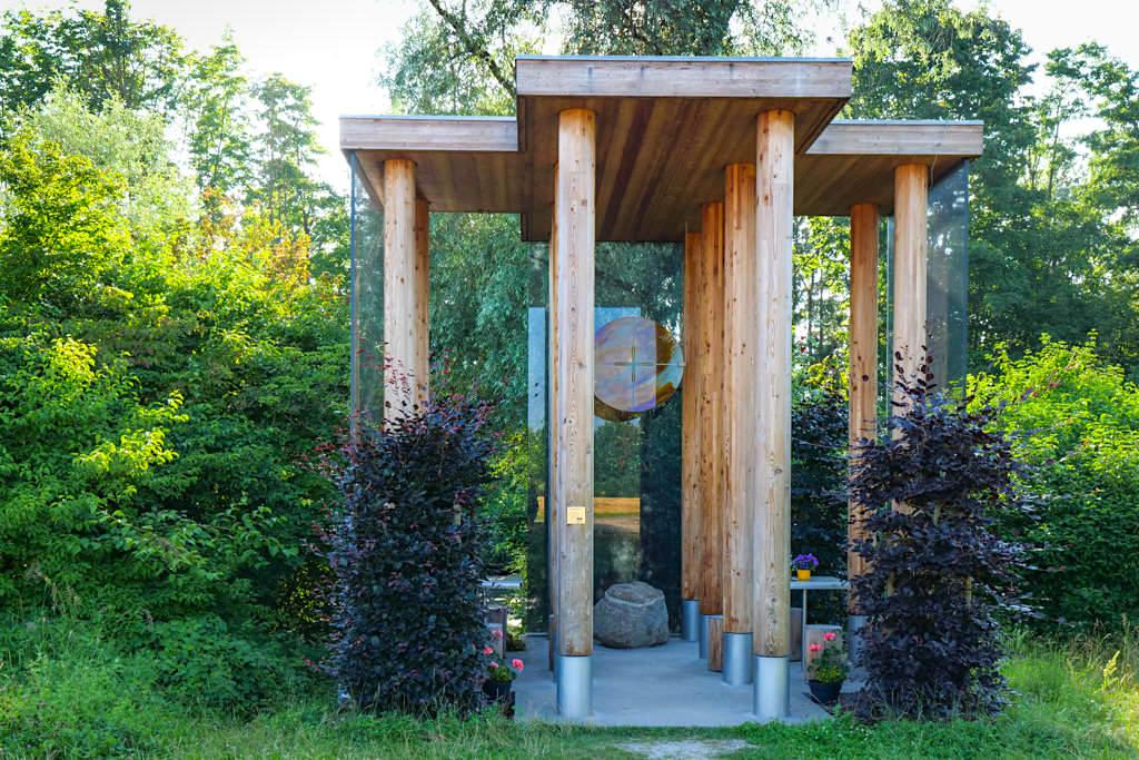 Kapelle Gundelfingen von Hans Engel bei Peterswörth - Architektur-Kunstprojekt 7 Kapellen im Dillinger Land, Bayern
